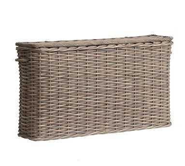 Aubrey Woven Oversized Lidded Basket - Pottery Barn