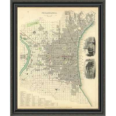 'Philadelphia; Pa; 1840' Framed Print - Wayfair