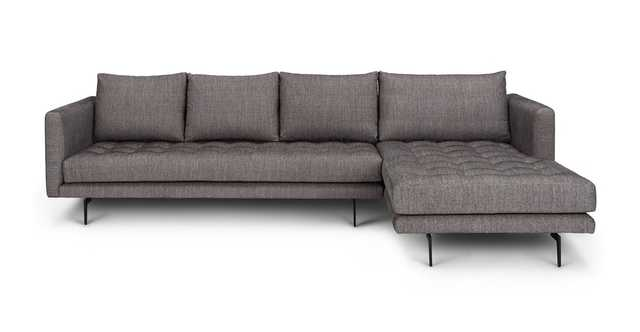 Parker Black Pepper Right Sectional - Article