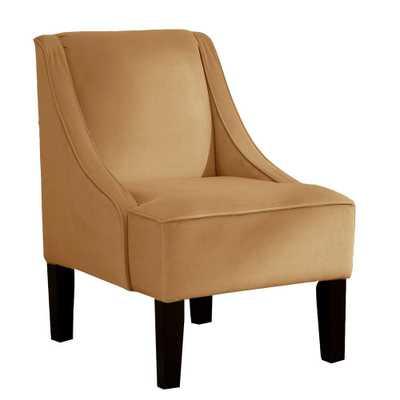 Palisade Honey Velvet Arm Chair, Velvet Honey - Home Depot