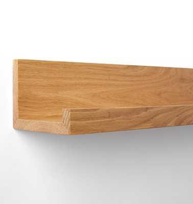 Wood Ledge Shelving - White Oak - 3' - Rejuvenation