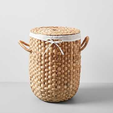 Round Weave Laundry Basket,Small, Natural - West Elm