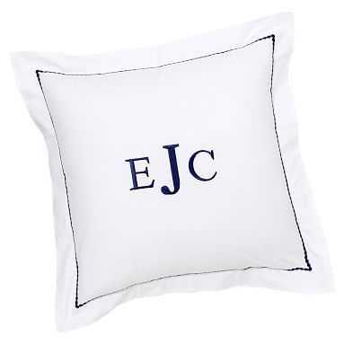 Pop Dot Euro Sham, Royal Navy, Personalized, Initials HPM, Traditional Font, Navy thread (hp) - Pottery Barn Teen