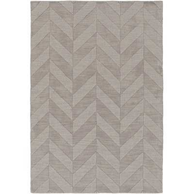 Sunburst Hand-Tufted Wool Gray Area Rug - AllModern