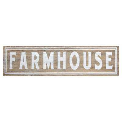 Farmhouse Wall Art, Natural And White - Home Depot