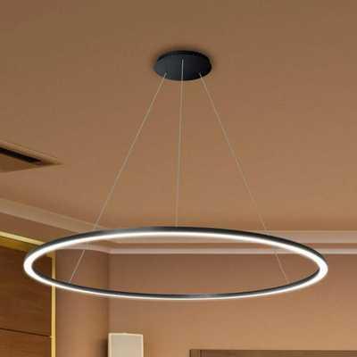 VONN Lighting Tania Round 39 in. 54-Watt Black Integrated LED Chandelier - Home Depot