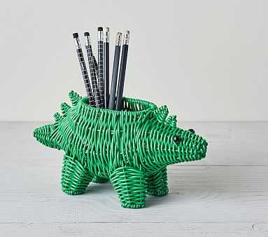Woven Pencil Holder, Dinosaur - Pottery Barn Kids