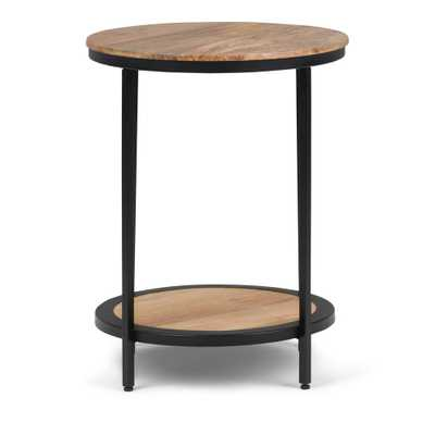 Jenna Natural Round Side Table - Home Depot