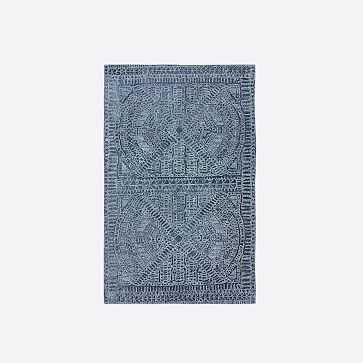 Maze Rug, Shadow Blue, 5'x8' - West Elm