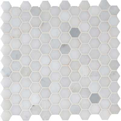MSI Greecian White Hexagon 12 in. x 12 in. x 10 mm Polished Marble Mesh-Mounted Mosaic Tile (10 sq. ft. / case) - Home Depot