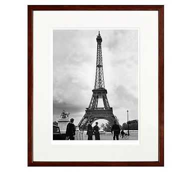 """New York Times Archive Framed Photography, Eiffel Tower - 1960, 20 x 24"""", Espresso - Pottery Barn"""