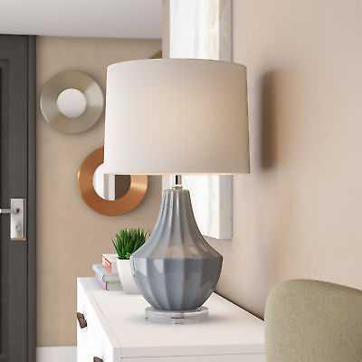 "Wrought Studio Hufnagel 25"" Table Lamp: Gray - eBay"