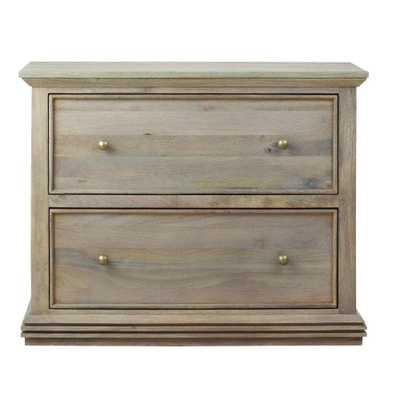 Aldridge Antique Grey File Cabinet - Home Depot