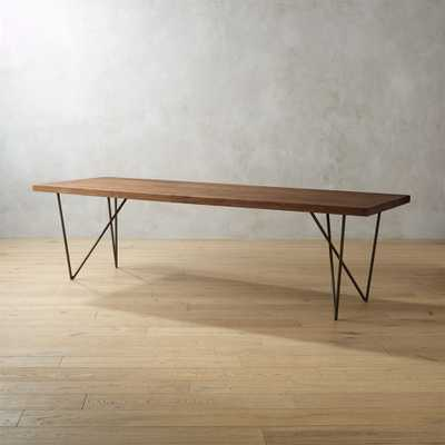 """Dylan 36""""x104"""" Dining Table - CB2"""