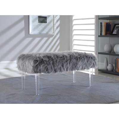 Lowall Hefley Fur Bench - Wayfair