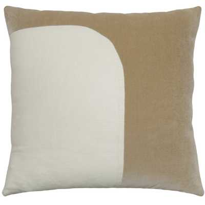 FELIX CEMENT IVORY 22X22 PILLOW - Square Feathers