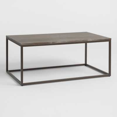 Graywash Wood and Metal Keenan Coffee Table by World Market - World Market/Cost Plus