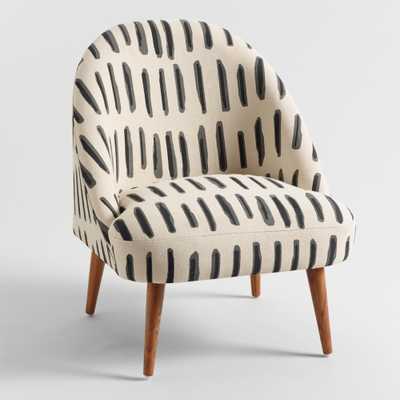 Charcoal Gray and Ivory Dash Print Noemi Tub Chair by World Market - World Market/Cost Plus