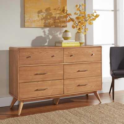 Holbrook 6-Drawer Natural Dresser - Home Depot