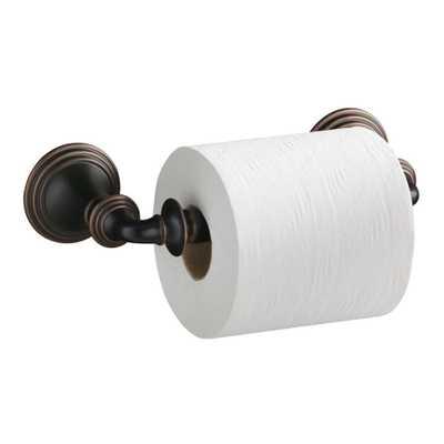 KOHLER Devonshire Double Post Toilet Paper Holder in Oil-Rubbed Bronze - Home Depot