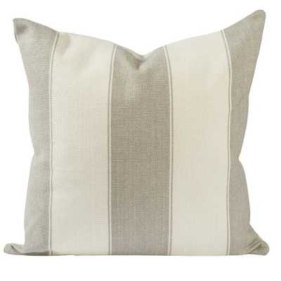 Classic Gray and White Stripes Throw Pillow, Grays - Home Depot