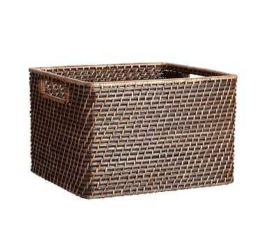 Clive Large Utility Baskets, Espresso - Pottery Barn
