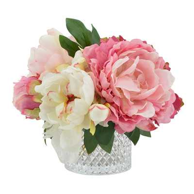 Mixed Peony and Hydrangea Arrangement - Birch Lane