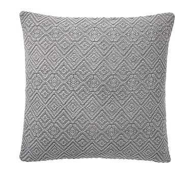 "Washed Diamond Pillow Cover, 20"", Flagstone - Pottery Barn"