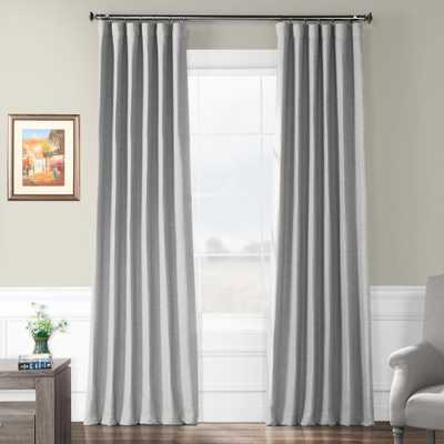 Exclusive Fabrics & Furnishings Vista Grey Gray Bellino Blackout Room Darkening Curtain - 50 in. W x 96 in. L - Home Depot