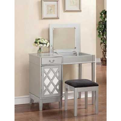2-Piece Silver Vanity Set - Home Depot