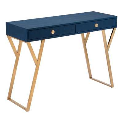 Asti Navy Blue Console Table - Home Depot