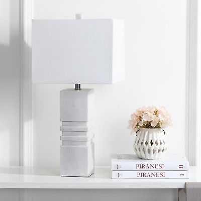 Safavieh Lighting 27-inch Faye Marble Table Lamp - eBay
