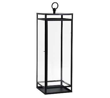 """Maxwell Handcrafted Lantern, Black, Large - 28"""" - Pottery Barn"""