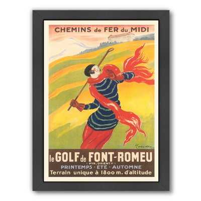 'Poster for French Golf' Graphic Art Print - Wayfair