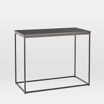 Streamline Side Table, Black, Antique Bronze - West Elm