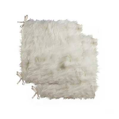 Lifestyle Group Laredo Off-White (Beige) Faux Sheepskin Fur Chair Pad (Set of 2) - Home Depot