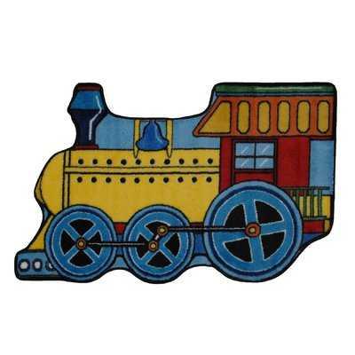 Fun Shape High Pile Train Area Rug - Wayfair