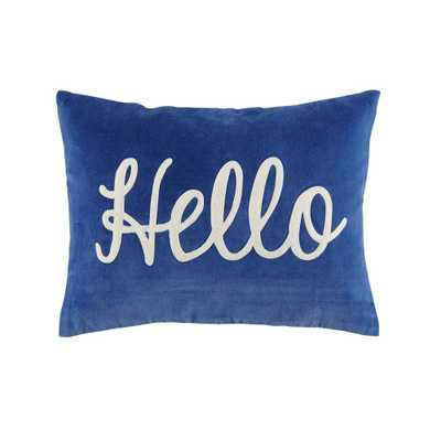Hello Throw Pillow - Crate and Barrel