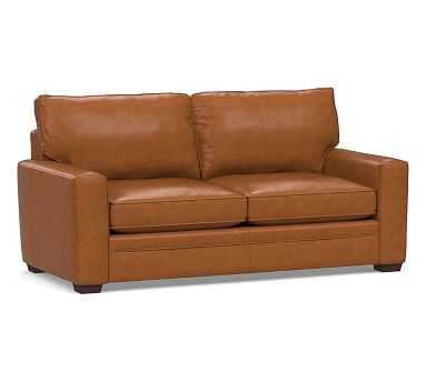 Pearce Square Arm Leather Grand Sofa, Down Blend Wrapped Cushions, Leather Signature Maple - Pottery Barn