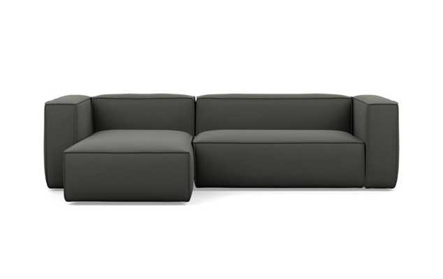 Gray Sectionals with Charcoal Fabric - Interior Define