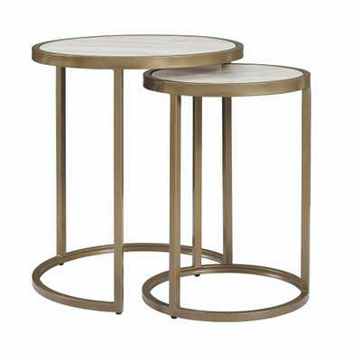 Terra Brass Nesting Tables - Home Depot