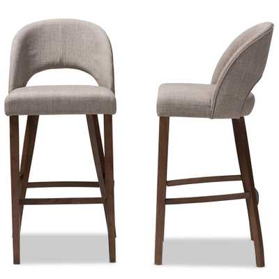 Melrose 30 in. Light Gray Bar Stool (Set of 2) - Home Depot