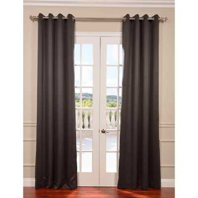 Exclusive Fabrics & Furnishings Semi-Opaque Anthracite Grey Grommet Blackout Curtain - 50 in. W x 96 in. L (Panel) - Home Depot
