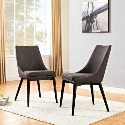 Carlton Wood Leg Upholstered Dining Chair - AllModern