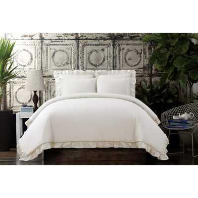 Voile White Full / Queen Comforter Set - Home Depot