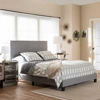 Ramon Gray Queen Upholstered Bed - Home Depot