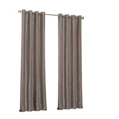 Eclipse Presto Blackout Window Curtain Panel in Chocolate (Brown) - 52 in. W. x 108 in. L - Home Depot