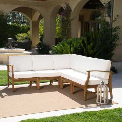 Brimmer Patio Sectional with Cushions - Birch Lane