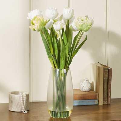 Tulip with Vase Silk Floral Arrangements - Birch Lane