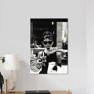 Radio Days 'Breakfast at Tiffany's Series: Audrey Hepburn As Seen Through Tiffany's Storefront Window' Photographic Print on Canvas - Wayfair
